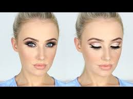 new years makeup tutorial sparkly glam cut crease long lashes lauren curtis lets learn makeup