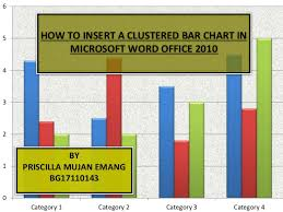 How To Insert A Clustered Bar Chart In Microsoft Word Office 2010