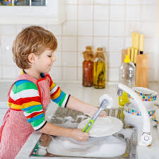 boys washing dishes. Exellent Boys Adorable Happy Little Blond Kid Boy Washing Dishes In Domestic Kitchen  Child Having Fun With Intended Boys Washing Dishes F
