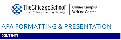 Microsoft Word Apa Header Apa Formatting And Presentation The Chicago School Of