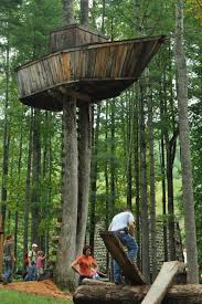 Easy Plans To Build Tree House Simple Treehouse Building Free Diy