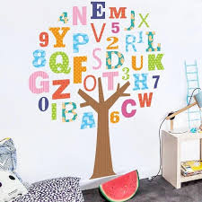 alphabet tree wall decals playroom