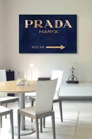 prada marfa canvas wall art