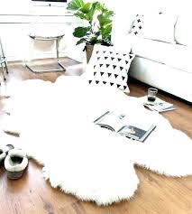 costco sheepskin rug fur rug grey