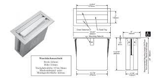 bobrick b 526 countertop mounted paper towel dispenser of stainless steel bild 2