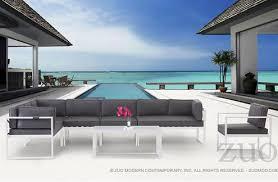 modern outdoor sectional. Golden Beach Chaise RSF Zuo Modern 703002 Outdoor Sectional