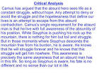 the myth of sisyphus summary and analysis