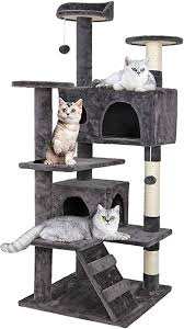 ZENY 53'' Cat Tree with Sisal-Covered Scratching ... - Amazon.com