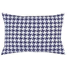 windsor navy modern houndstooth pillow case  carousel designs