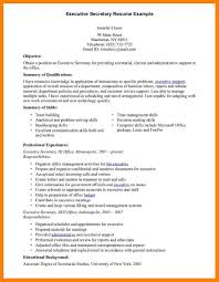 Executive Secretary Resume Modern Day Picture Example For Objective