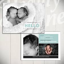 twin birth announcements photo cards birth announcement template midnight song card b 5x7 card