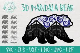 2,000+ vectors, stock photos & psd files. 3d Mandala Bear Svg Layered Bear Svg Camping Svg Mountain 687606 Paper Cutting Design Bundles