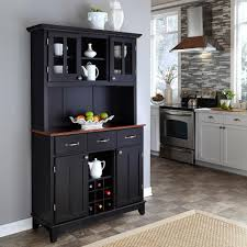 home styles black and cherry buffet with hutch 5100 0042 42 the home depot