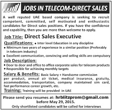 Direct Sales Resumes Direct Sales Executive Job In Telecom Direct Sales Uae Based Company