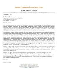 Psych The Art Gallery Psychology Internship Cover Letter Sample