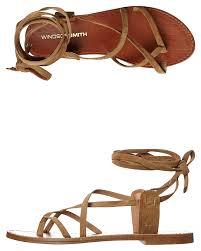 Windsor Smith Bizz Leather Womens Sandal Tan Suede