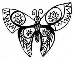 Farfalla Di Linea Nera Per Tatuaggio Libro Per Adulto E Bambino Da