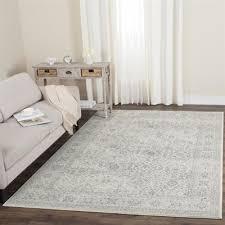 safavieh carnegie rug cream dark grey rectangular indoor machine made distressed area rug
