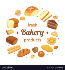 Round Bakery Products Label Fresh Baked Bread Vector Image