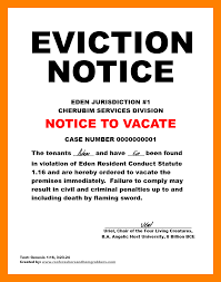 Eviction Notice 24 eviction notice emmalbell 1