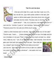 the fox and the goat esl worksheet by