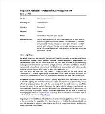 Personal Description 12 Legal Assistant Job Description Templates Free Sample Example