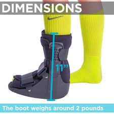 Foot Healing Chart Braceability Short Broken Toe Boot Walker For Fracture