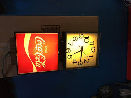 coca cola lighted wall clock for