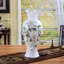 ceramic big white modern flowers vase home decor large floor vases