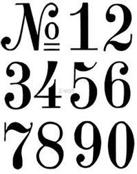 Number Stencil Font Number Stencils Crafts Pinterest Stencils Fonts And Lettering