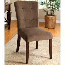 furniture of america celine velvet fabric dining side chairs espresso set of 2 dining chairs