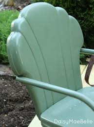 spray painting metal furnitureHow to Paint Metal Chairs  daisymaebelle  daisymaebelle