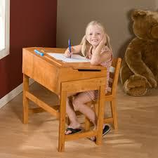 schoolhouse desk and chair set pecan kids desks at
