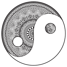Small Picture Mandala yin and yang to color by snezh Mandalas Coloring pages