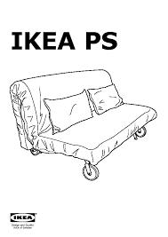 ikea ps murbo sofa bed rute black