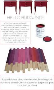 Annie Sloan Chalk Paint Mixing Chart Lovely Color Mixes Made With Burgundy In Chalk Paint By
