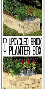 brick planter brick raised garden beds