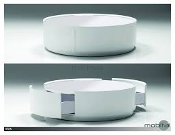 table  modern round coffee table with storage rustic medium