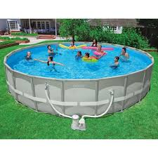 Intex 24 x 52 Ultra Frame Above Ground Swimming Pool Walmartcom