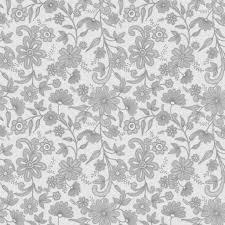 壁紙背景イラスト花の模様柄パターン No051グレーシック