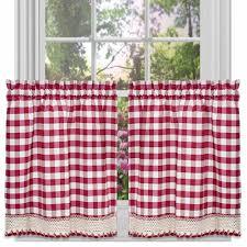 Red Kitchen Curtain Sets Red Checkered Kitchen Curtains Cliff Kitchen