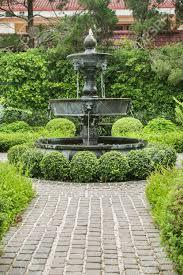 Fontaine Design Jardin Nature Background Fountain In English Garden Design