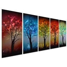 from dusk till dawn colorful tree metal wall art decor large set in 2017 colorful metal on colorful metal wall art decor with showing photos of colorful metal wall art view 7 of 20 photos