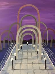 baton rouge paper clip pier painting by painting and pinot studio