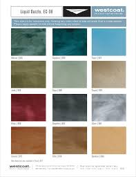 Dazzle Dry Color Chart Color Charts Westcoat Specialty Coating Systems