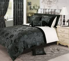 black silver white colour stylish fl jacquard duvet cover luxury beautiful glamour bedding