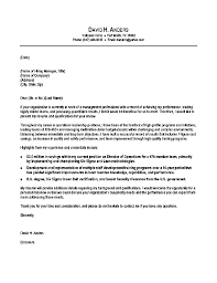 military cover letter operations production cover letter example