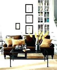brown leather couch decor sofa blue rug livin