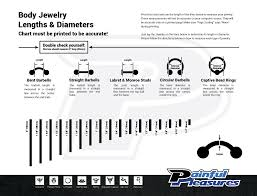 Labret Size Chart Measuring Body Jewelry Painfulpleasures Inc