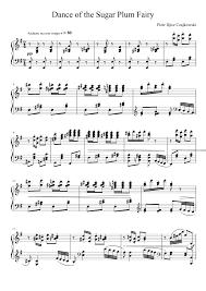 dance of the sugar plum fairy sheet music dance of the sugar plum fairy sheet music for piano musescore